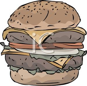 Burger clipart double Picture A Free Cheeseburger Free
