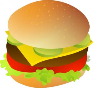 Burger clipart double Cheeseburger Art Page Burger Clip