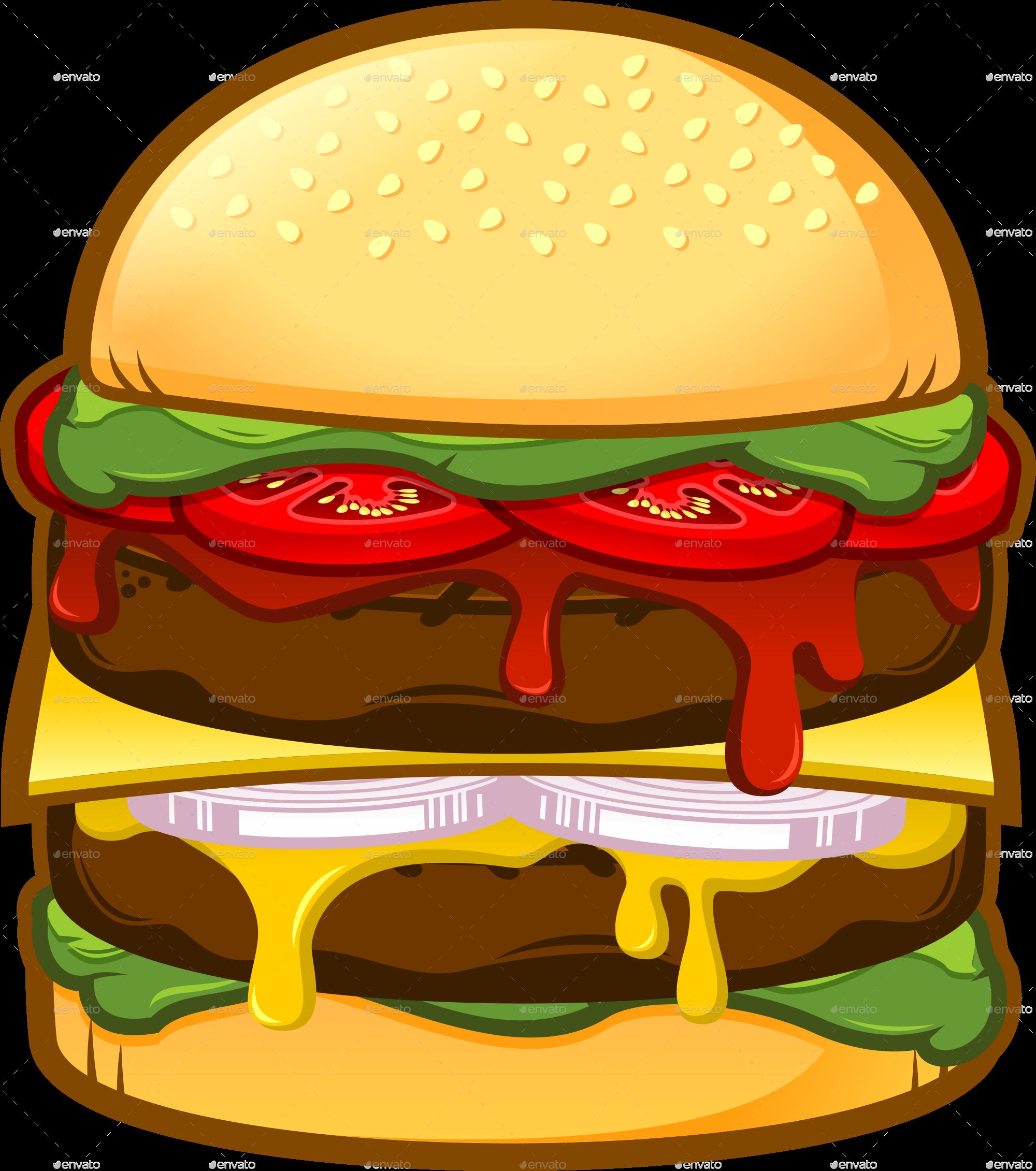 Burger clipart double Big Double Burger Burger jpg