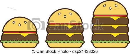 Burger clipart double Classic Vector Set Vector Burger