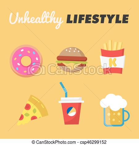 Burger clipart doughnut Fries unhealthy Burger  Lifestyle