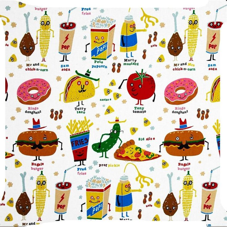 Burger clipart doughnut Pillow on cushion Pinterest art