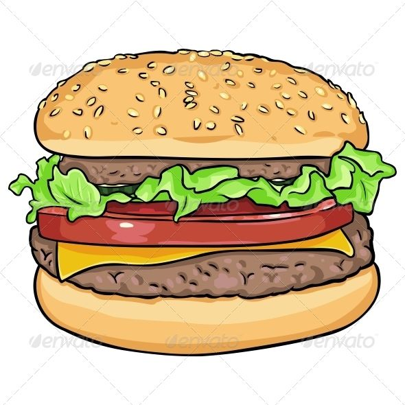 Burger clipart drawn Hamburger Vector ideas drawing Cartoon