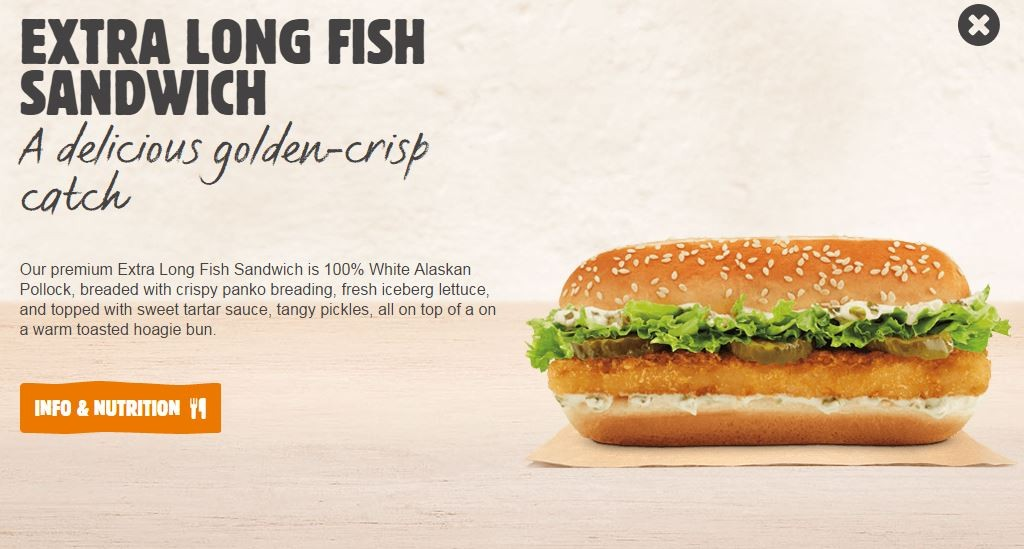 Burger clipart fish sandwich Like King seems  what