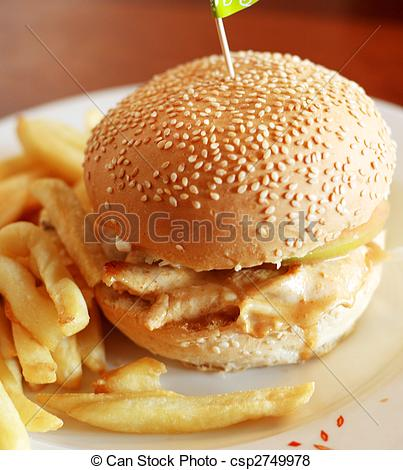 Burger clipart fried chicken Chicken burger fried delcious of