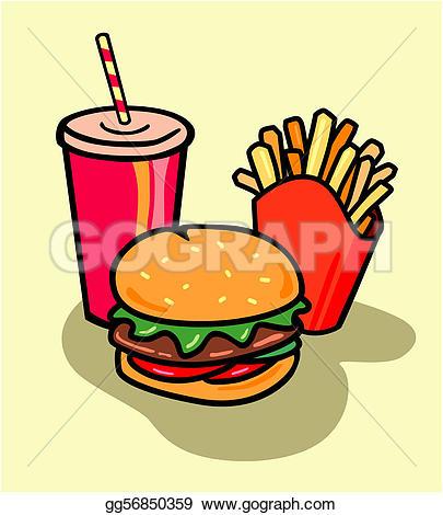 Burger clipart fried food Soda Illustration Illustrations fast Illustration