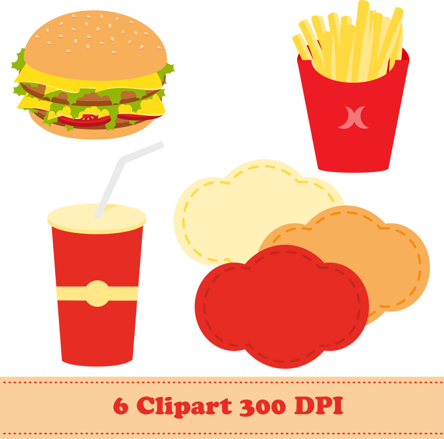 Burger clipart fried food Is Clipart file a