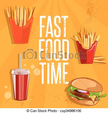 Burger clipart fried food With fast and illustration