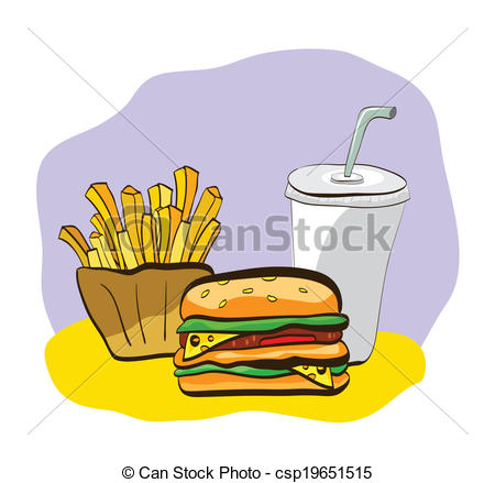 Burger clipart fried food Drink of Clip burger French