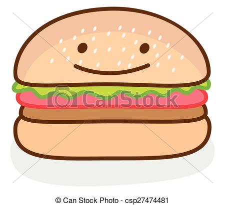 Hamburger clipart funny Burger illustration of Vector Funny