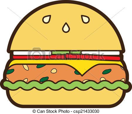 Veggie Burger clipart graphic Burger burger Vectors Burger Vector