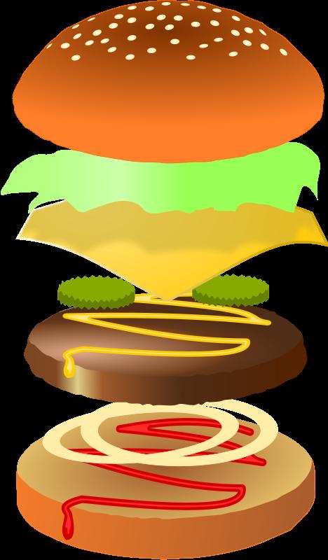 Hamburger clipart transparent background Layers Fries Food Hot Hamburger