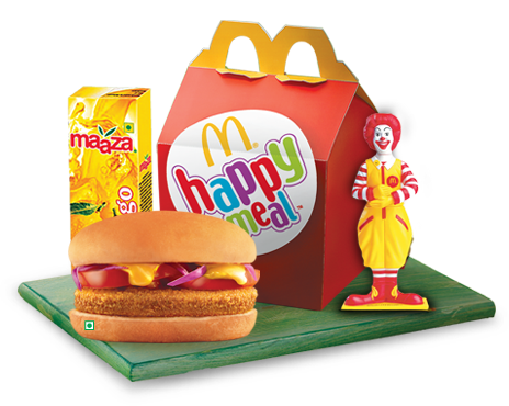 Burger clipart happy meal India McDonald's India Meal™ Happy