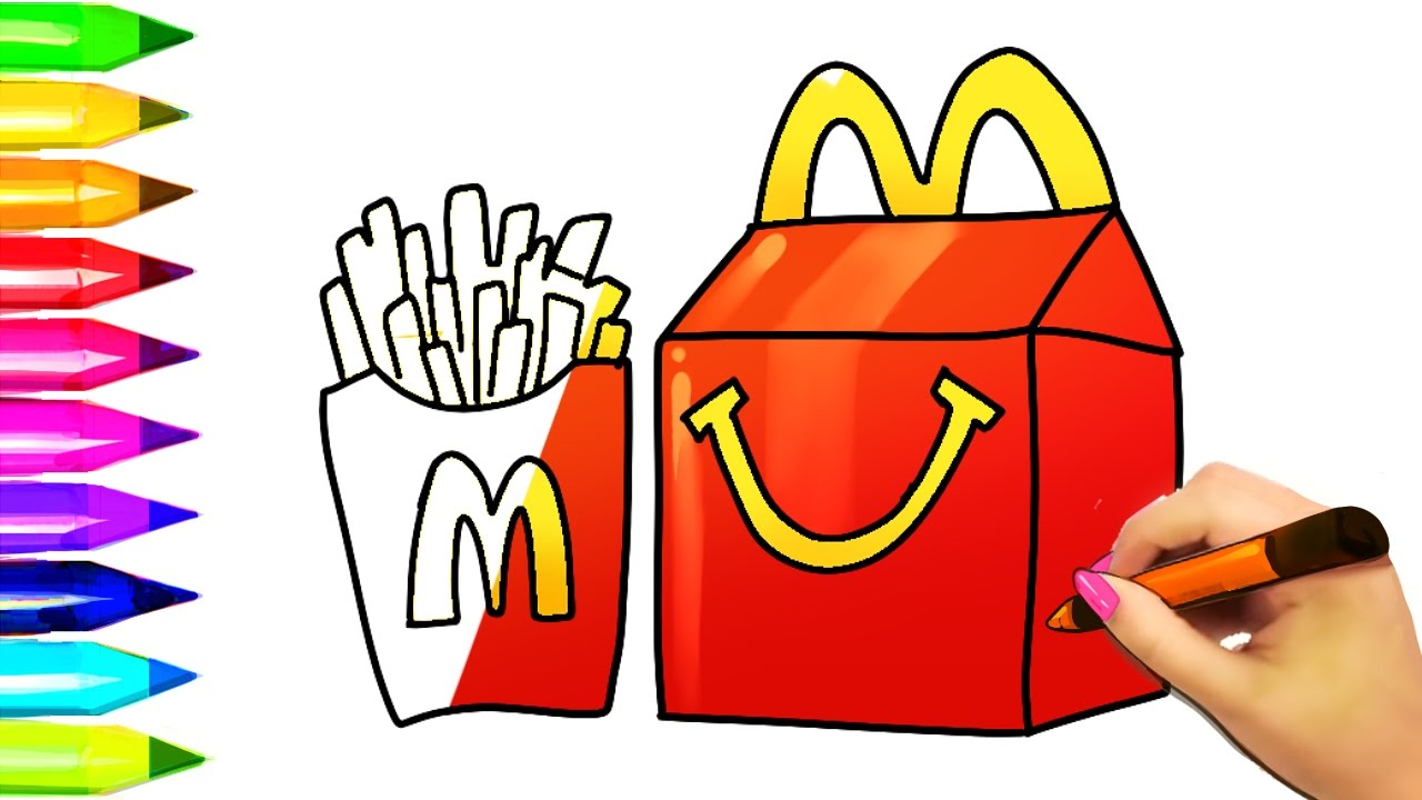 Burger clipart happy meal Happy McDonald's Kids Draw Kids