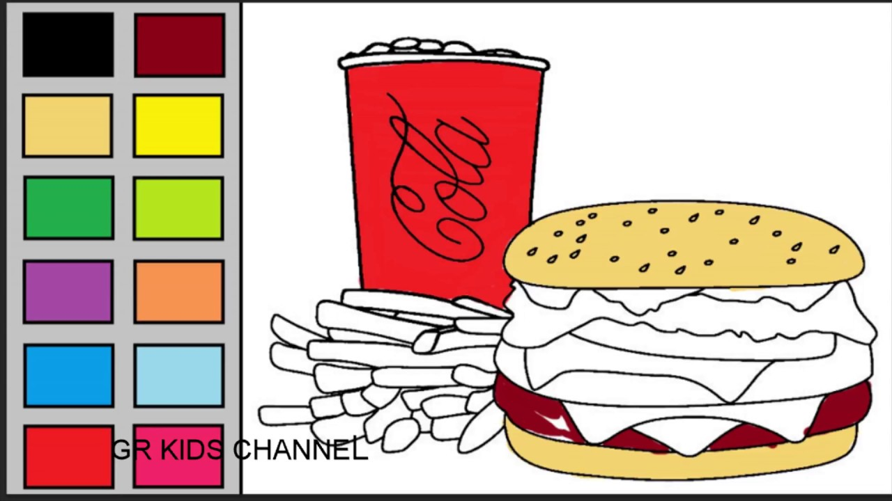 Burger clipart happy meal How Coloring Family Fries How