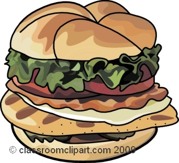 Burger clipart healthy food #1