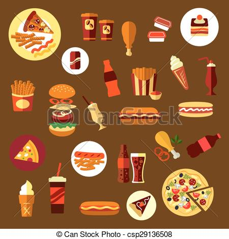 Burger clipart icon Fast including Fast csp29136508 Vector
