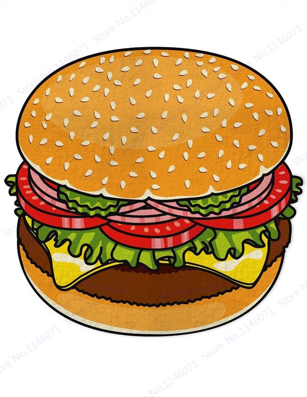 Burger clipart makanan Berenang Makanan lots Colorful Beli