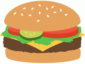 Burger clipart picnic food More on Pin best and