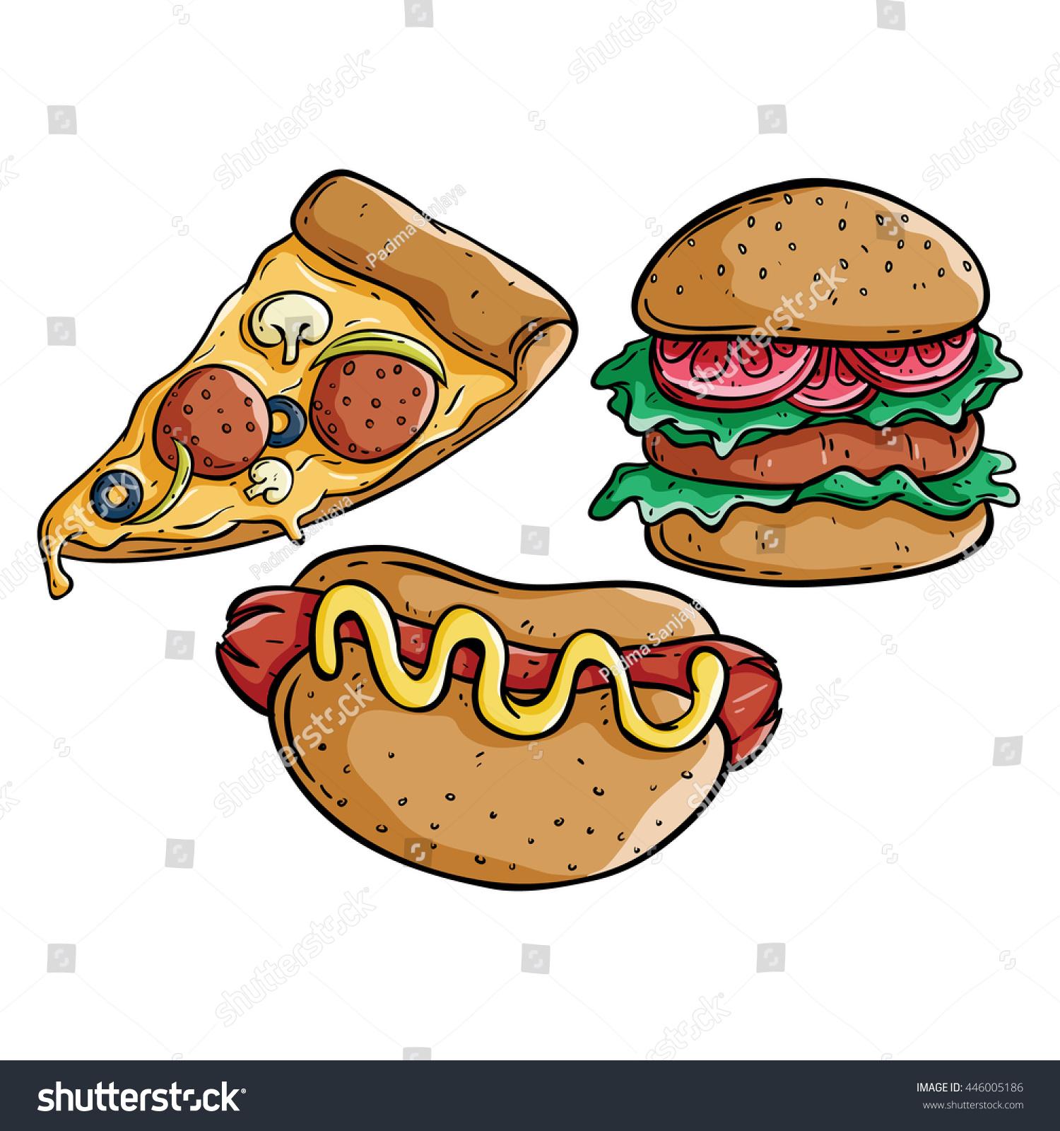 Burger clipart pizza Burger Burger Doodle clipart Pizza