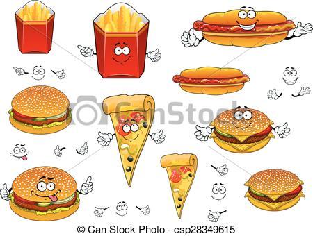 Burger clipart pizza Hotdog Art and pizza Fast