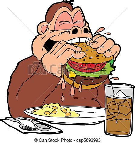 Burger clipart plate food Big iced of a An
