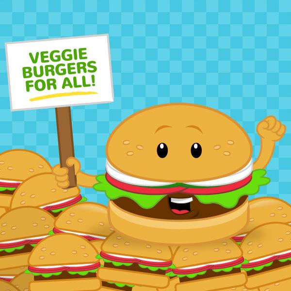 Burger clipart school food Com The peta2 Veggie