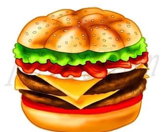 Burger clipart school food Lunch Hamburger art OFF School