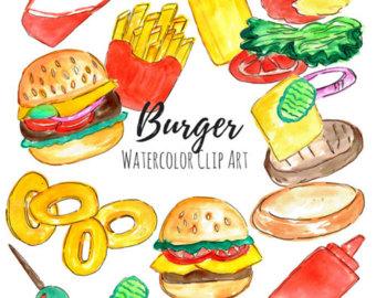 Veggie Burger clipart graphic Art art Food art Food