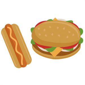Burger clipart school food Fast cut cricut file and