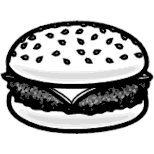 Burger clipart silhouette Download cliparts Cheeseburger cliparts free