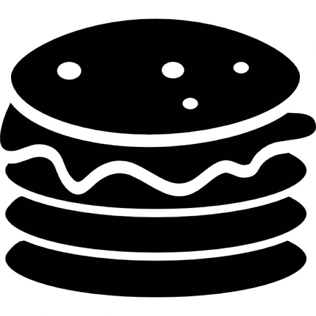 Burger clipart silhouette Burger Icon silhouette patty Free