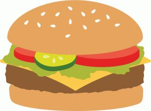 Burger clipart silhouette Best on and 40 more