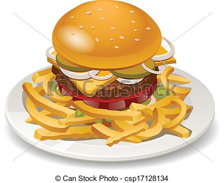 Burger clipart thick Vector fries with fries with