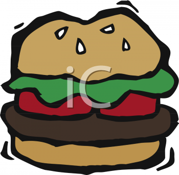 Burger clipart thick Burger a Slices of Tomato