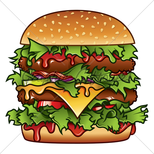 Burger clipart thick Detailed Burger Stock Images Of