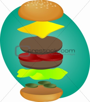 Burger clipart thick The Michael by Burger Dean