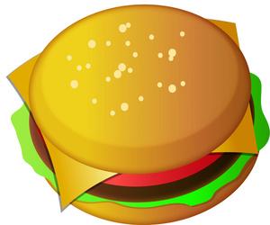 Burger clipart thin Free Panda Burger Clipart 20art