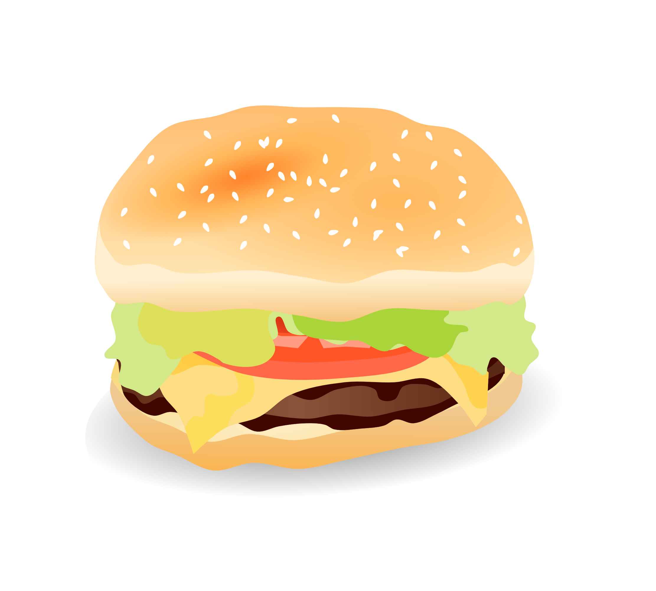 Burger clipart thin — Clipart (2978) Hamburger Free