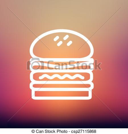 Burger clipart thin Burger burger thin Double line