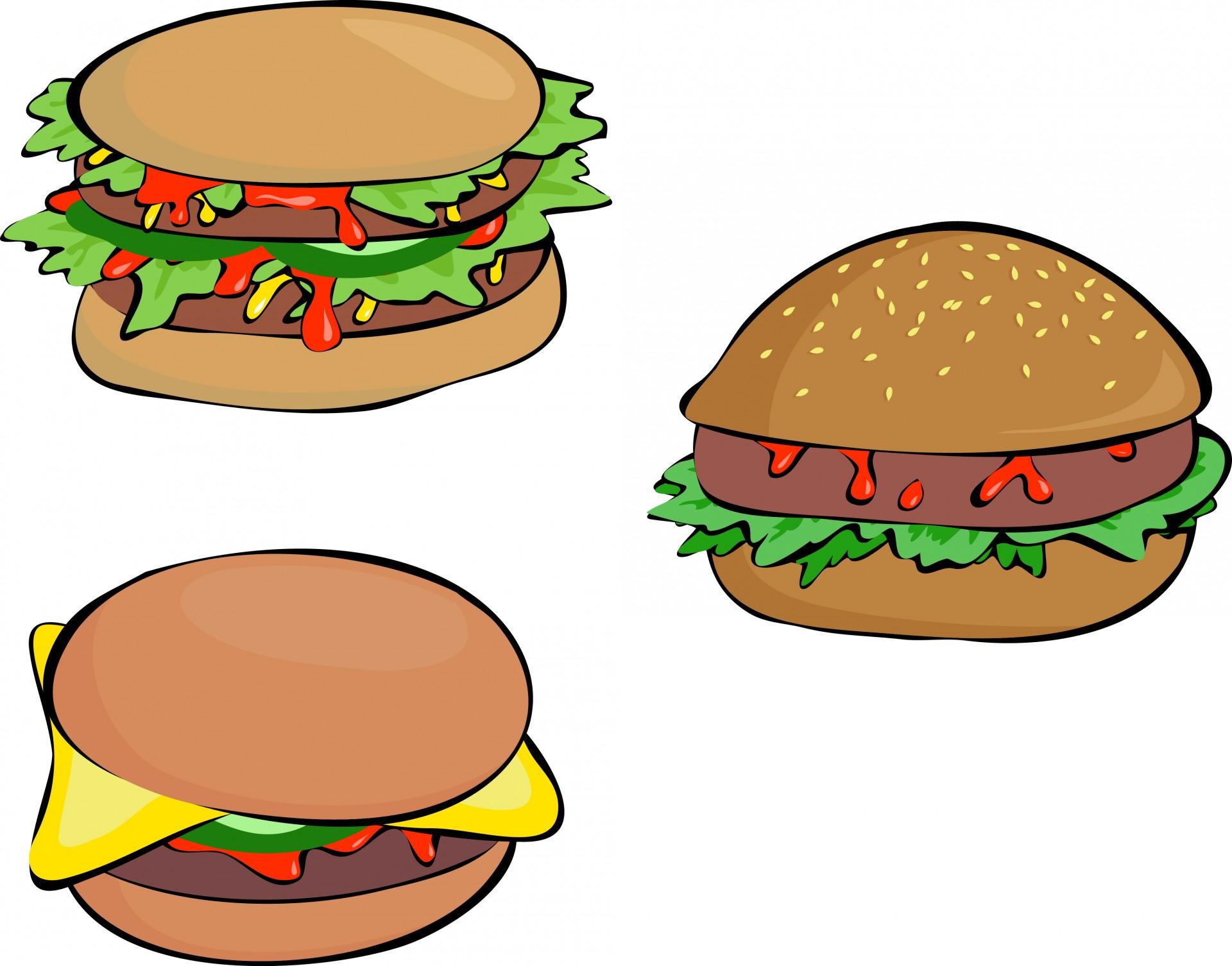 Burger clipart three  wallpaper clipart burger