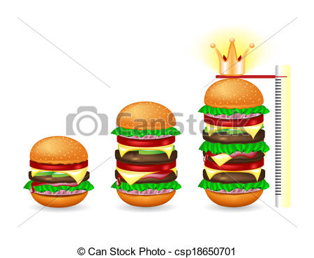 Burger clipart three  Stock of fresh different