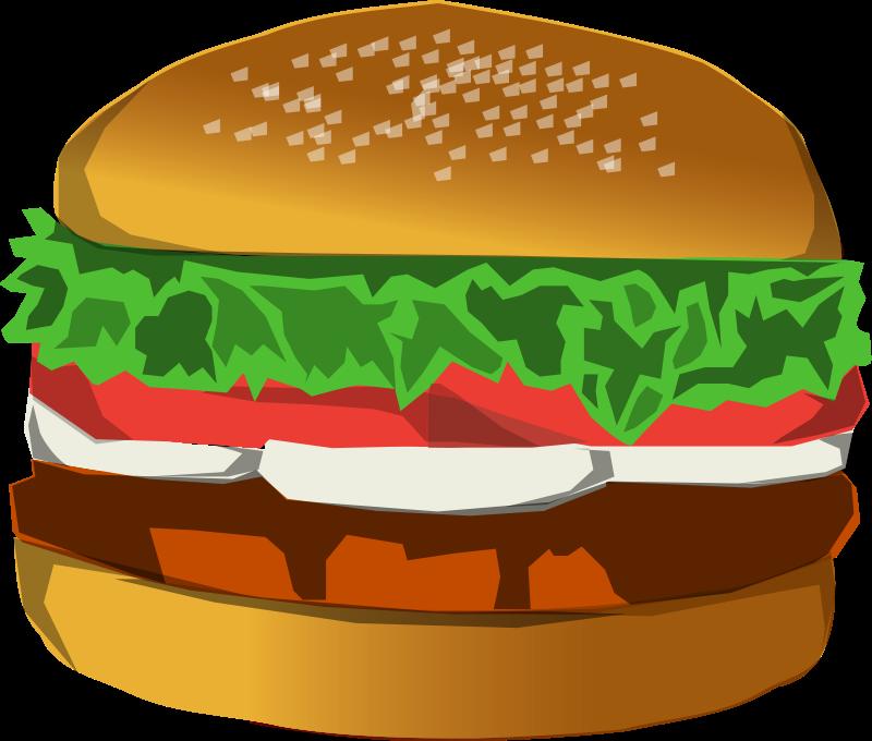 Hamburger clipart transparent background Hamburger 14184 Stock a Hamburger