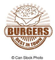 Burger clipart vector Clip Burgers clipart rubber