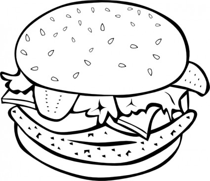 Burger clipart vector  And And free Clip