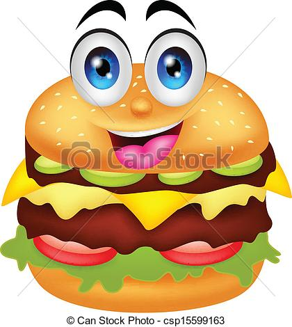 Burger clipart vector And characters free illustration