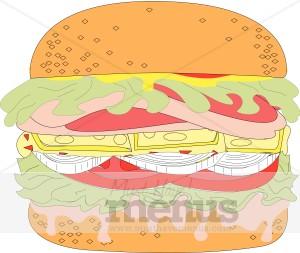 Veggie Burger clipart graphic Clipart Clipart Juicy Food Burger