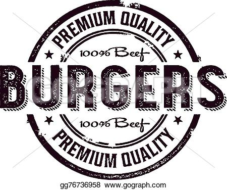 Burger clipart vintage Stock stamp style and design