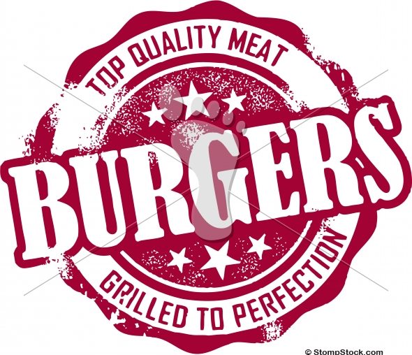 Burger clipart vintage Art Clip Restaurant Clip StompStock