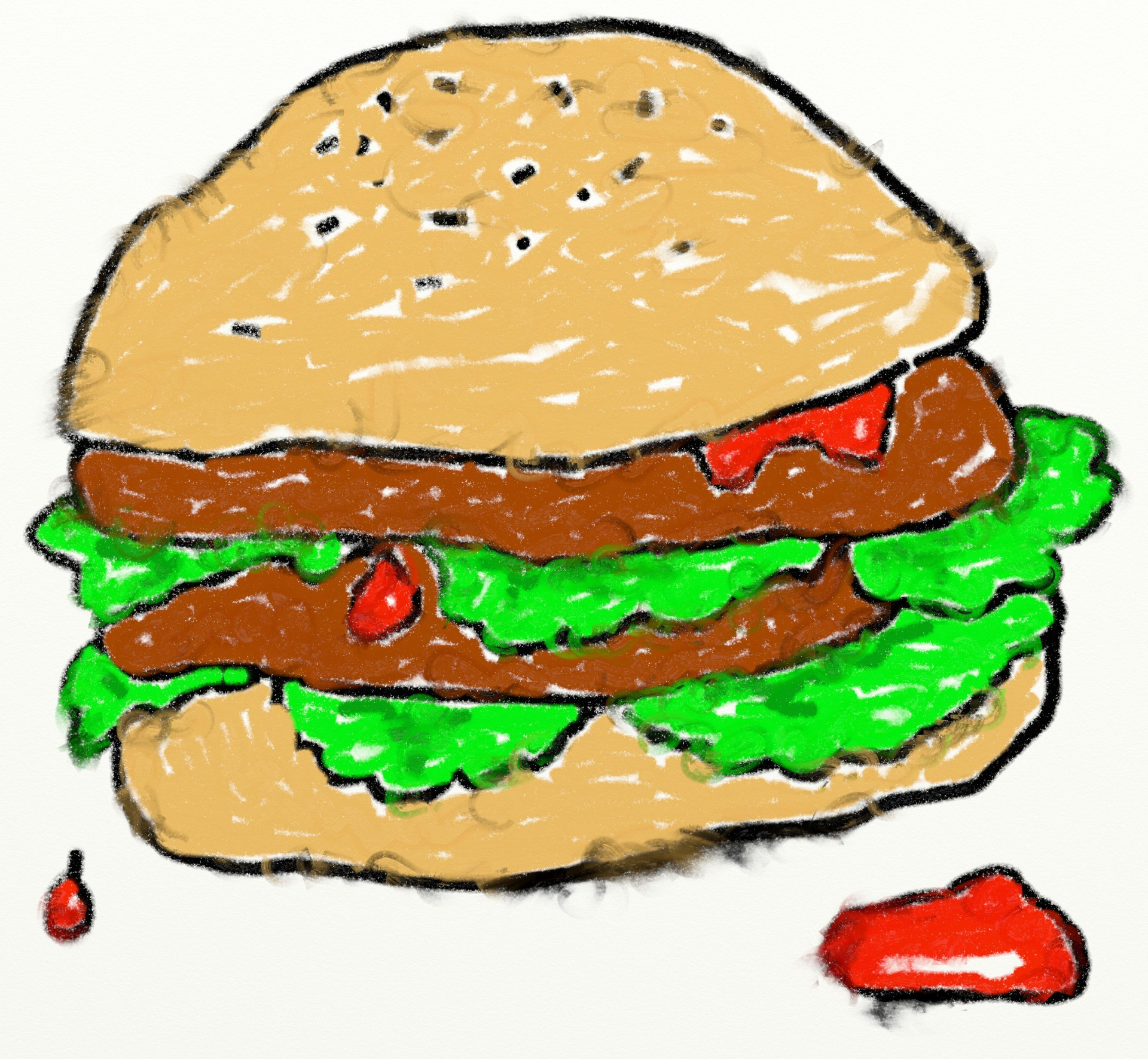 Burger clipart wallpaper Double Photo Public Burger Burger